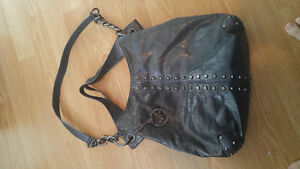 Michael Kors grey studded purse