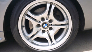 BMW M STYLE 68 STAGGERED 17INCH RIMS AND TIRES
