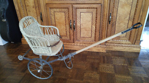 Spectacular replica of Victorian Child Pull Buggy / stroller.