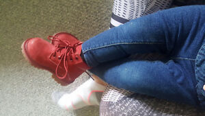 Baby TIMBERLAND boots size 4 red