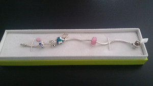 Charm Bracelet and Necklace with charms