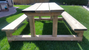 Untippable Picnic Table