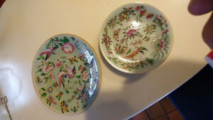 19th c. Chinisse porcelin hand painted qing 2 plates