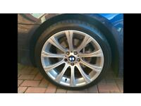 GENUINE ORIGINAL E60 M5 19 inch BMW BBS 166 style Alloy Wheels with Tyres