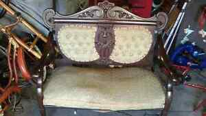 Antique love seat  all original    hand carved Sarnia Sarnia Area image 1