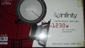 """Infinity 12"""" subwoofer with box. Gently used 1200W"""