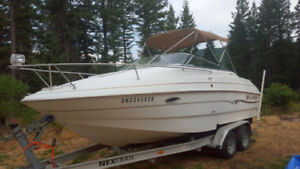 22 Ft Cuddy, inboard-outboard V8 Low hours