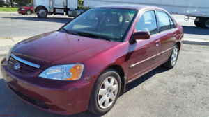 2002 Honda Civic EX 4DR Automatic Red