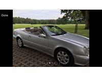 Mercedes CLK convertible AVANTGARDE, satellite navigation, 2 owners
