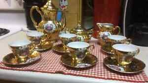 Antique Gold Tea Set