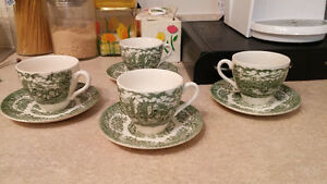 Iron stone tea cups and saucers