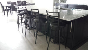 Swivel Counter & Barstools - Contemporary Rustic Design