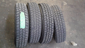 A set of four 155/80R13 Hankook winter tires
