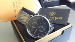 Akribos Day Date Swiss Movt - Brand New with Tags/Box