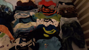 Large lot of boys clothes used on one baby