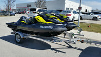 """Two 2012 Sea-Doo RXP-X's """"LOW HOURS"""" w/ 2 Place Triton Trailer!"""