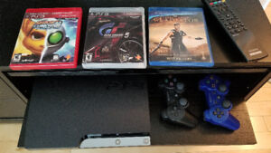 Sony Playstation 3 (PS3) with two controllers