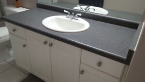 2- BATHROOM VANITY TOPS ONLY WITH SINKS AND TAPS