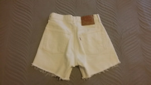 Levis 501 Wedgie High Rise Cutoff Shorts Size 24