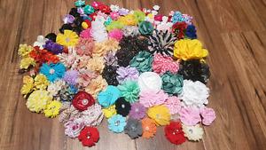 Assorted size headband/crafting  flowers