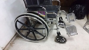 Folding Steel Transport Wheelchair with Full Arms Windsor Region Ontario image 4