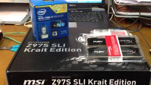 PRICE DROP: Intel i5-4690k cpu, 16GB RAM, MSI Z97S motherboard