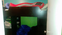****REDUCED****Loft bed with desk and storage