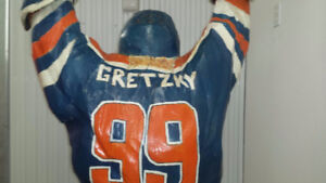 One of a Kind Wood Carved Gretzky Statue