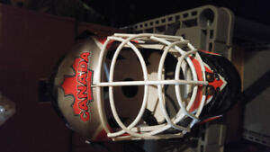 Hockey Goalie helmet like new and sold as you see it NEED GONE