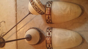 2 Wall Sconces and 2 matching Pendants