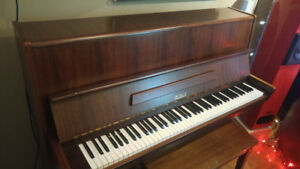 Beautful Petrof (Czech) Upright - Satin Walnut - 114 Classic