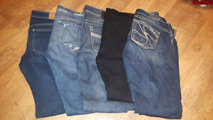 5 pairs Size 27/28 Jeans