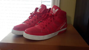 Adidas red/white sneakers (size 13) (excellent condition)