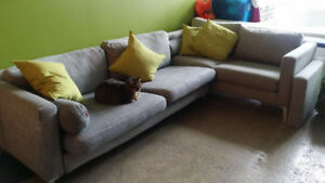 Great deal for TWO Karlstad sofas!