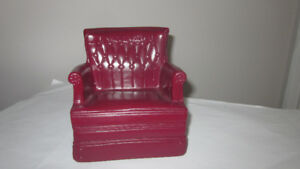 Sindy Doll Maroon Arm Chair Louis Marx & Co.