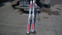 K2 5000 SX SKIES, WITH BINDINGS, BOOTS AND POLES