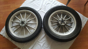 Front and Rear rims and Tires