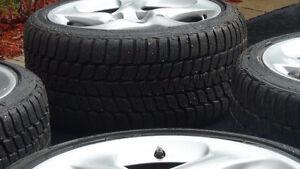 Porsche 911 RIMS/MAGS with Blizzak winter tire // Pneus hiver West Island Greater Montréal image 6
