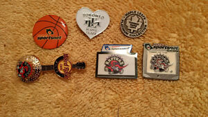 Leafs Hockey NBA Raptors Basketball Pin - 6 Total OR Bobblehead