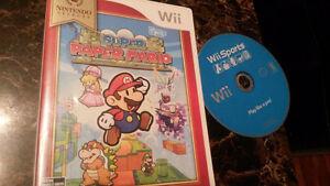 Wii games...both for $20.  Mario  zelda  link