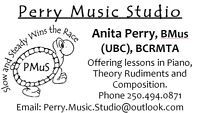 Piano Lessons, Music Rudiments, Composition
