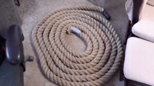 RARE MASSIVE  BOAT ROPE  40 + feet ONLY $75.00 at 277 montreal s