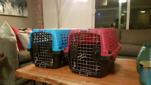 Blue and Pink Dog Crates
