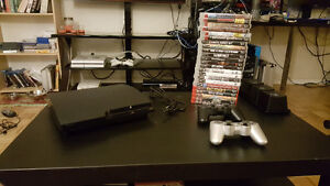 Playstation 3 250GB with 23 games, 2 controllers. Gatineau Ottawa / Gatineau Area image 1