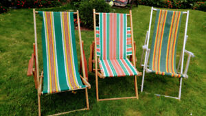 Retro lawn chairs for sale!