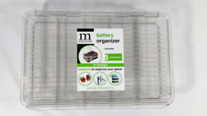 [NEW] mDesign Stackable Divided Battery Storage Box Hinged Lid