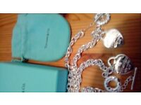 tiffany necklace and bracelet set new unworn boxed stamped 925