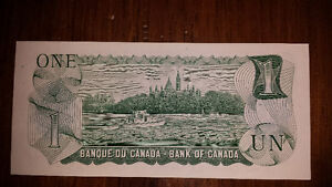 1973 Replacement 1$ note. Mint Cornwall Ontario image 2