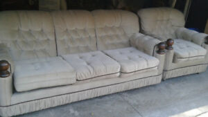 Grey/Beije Couch for Sale