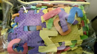 letter and number foam mats